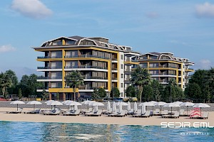 Brand new sea front luxury Apartments for sale in Kestel - Alanya City alanya