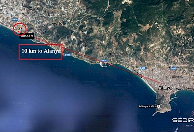 Commercial land 35000 m2 nearby sea line For sale in Alanya. alanya