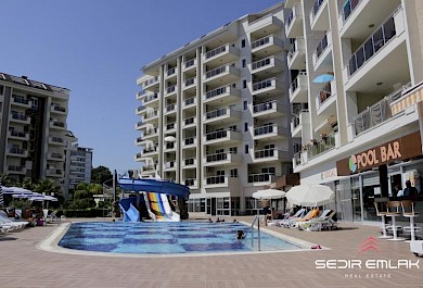 Sea view fully furnished luxury 2+1 Apartment for sale in Orion resort residence  Avsallar - Alanya alanya