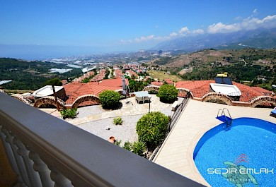 Furnished  4+2 sea view exclusive villa for sale in Kargicak - Alanya alanya