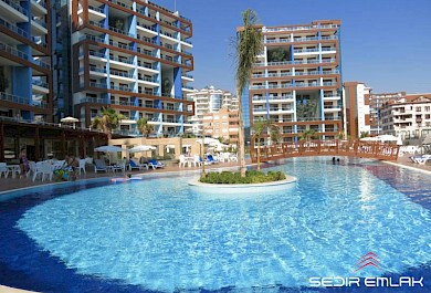 Ultra luxurious 3+1 Apartment in nice location complex for sale in Alanya alanya