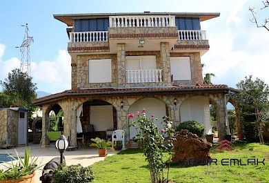 depended sea view villa for sale in Oba - Alanya city alanya