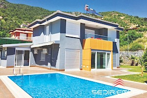 High end sea view depended 4+1 villa for sale in Oba Alnya - Turkey alanya