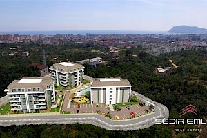 Spacious 3+1 and 5+1 apartment in nice complex for sale in Oba - Alanya alanya