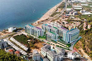 High end apartment in sea front residence for sale in Alanya alanya