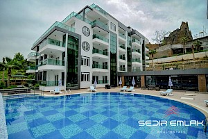 Sea view Furnished penthouse for sale in Kestel - Alanya alanya