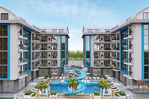 Cheap price apartments for sale in Oba Alanya city alanya
